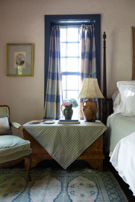 Bedroom with Antique furnishings