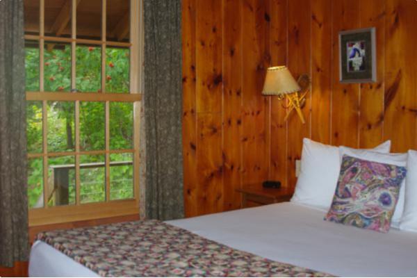 1 bedroom with queen bed