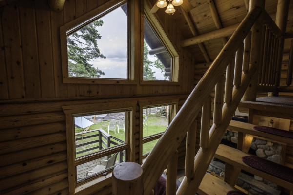 Stonegate Cabin Log Interior