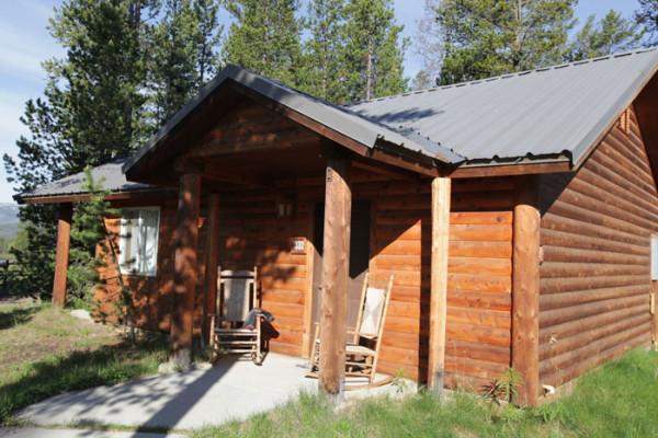 Cabin: Bathroom; Cabin Exterior Cabin: Cabin Exterior; Headwaters Lodge