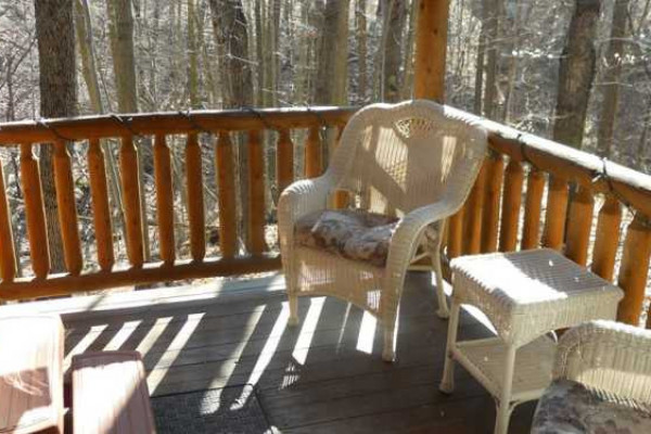 Apple Blossom Cabin - Covered Porch with Seating