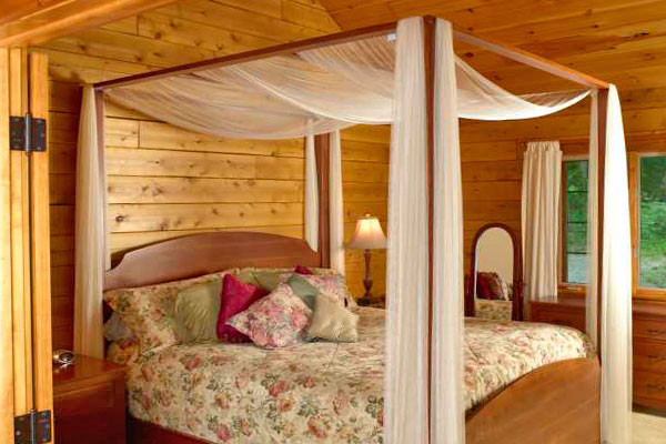 Cherry Blossom Cabin Bedroom