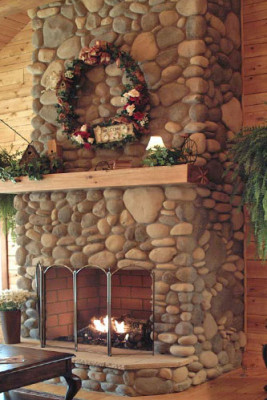 Rosewood Cabin Fireplace