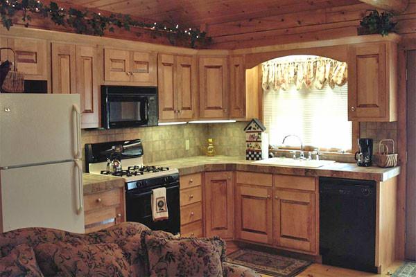 Rosewood Cabin Kitchen