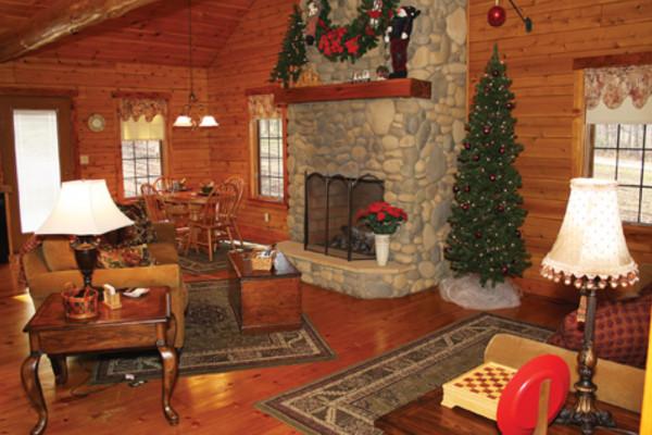Rosewood Cabin Living Room