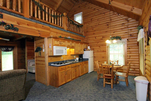 Tulip Poplar Cabin Kitchen