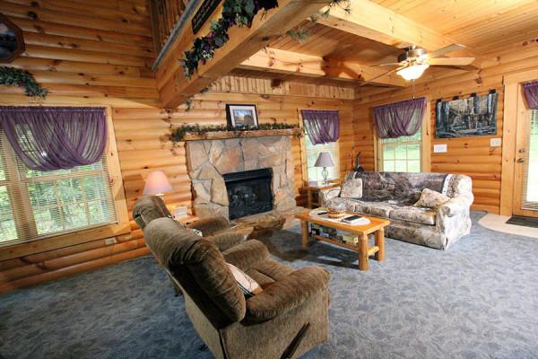 Tulip Poplar Cabin Living Room