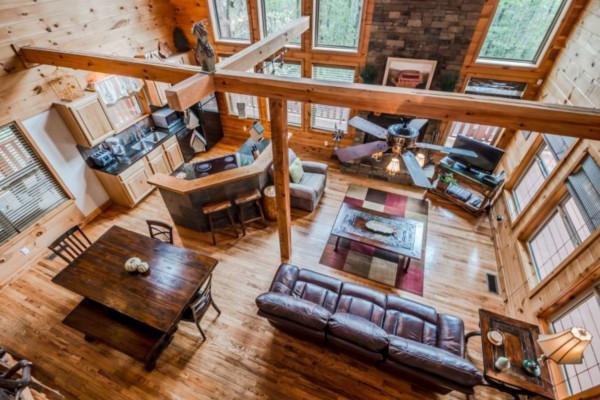 Elation Cabin - Living Room