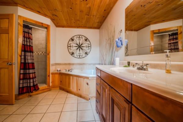 Elation Cabin -  Master Bathroom