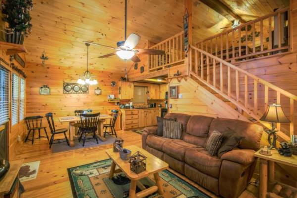 A Bear-able Cabin Living Room