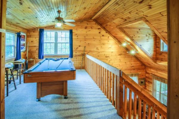 Bear's Den Pool Table in Loft