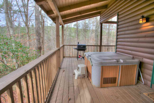 Allure - Deck with Hot Tub and Grill