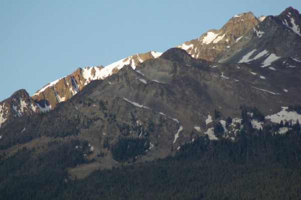 View of peaks from cabin