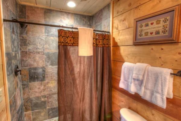 Bathroom with Stone Tile