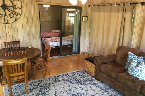 Living Room into Sunroom/Bedroom 4
