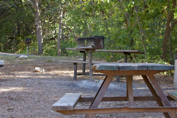 Picnic Table with Grill