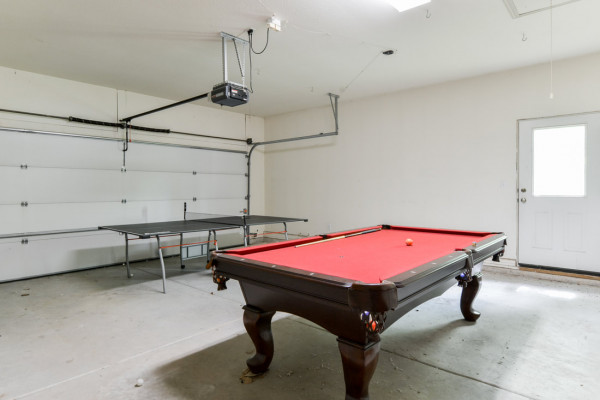 Game Room in Garage