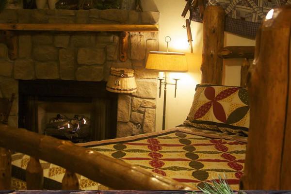 Log Queen Bed