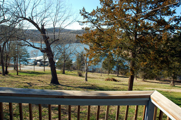 Views of the lake from deck