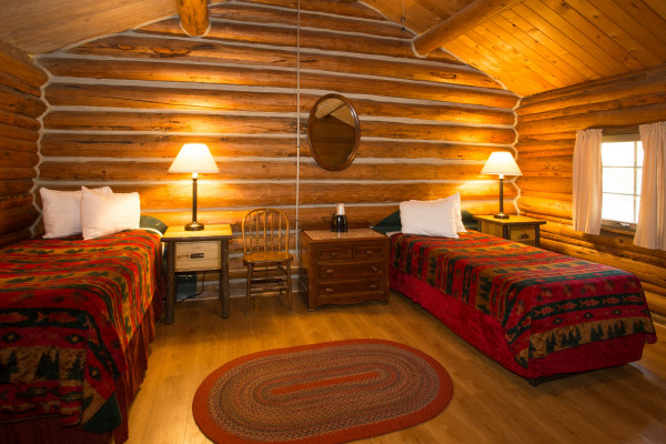 Two Room Cabin - One Double Bed & Two Twin Beds