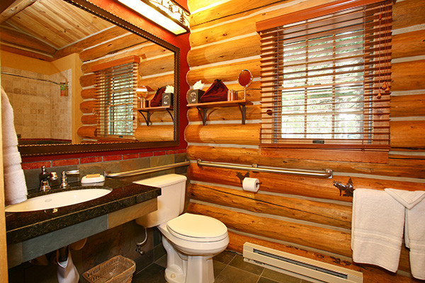Jenny Lake Lodge Cabin Bath - Grand Teton National Park