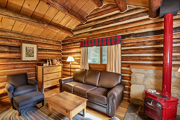 Jenny Lake Lodge Cabin Sitting Area - Grand Teton National Park