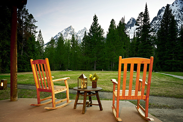 Jenny Lake Lodge Cabin Views - Grand Teton National Park