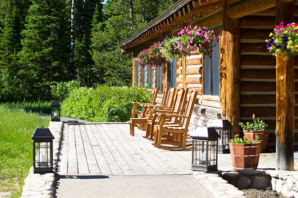 Jenny Lake Lodge Porch