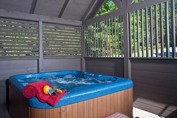 Covered Hot Tub area