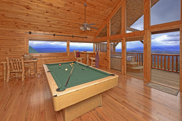 Billiard Room & View