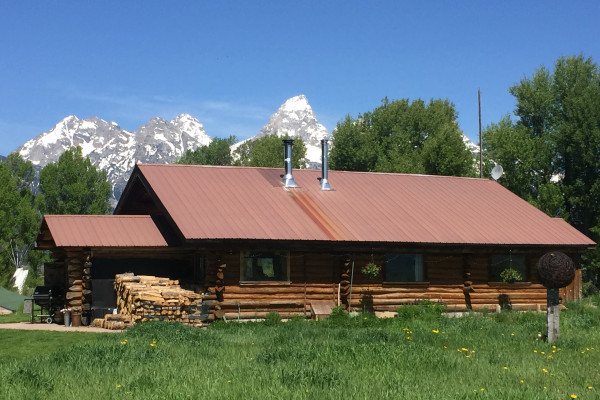 Cabin Exterior with Teton views