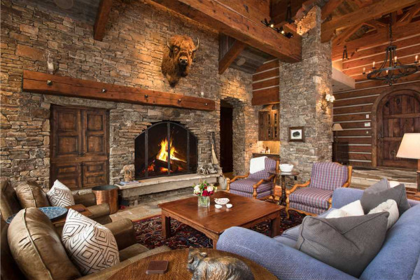 Great room and fireplace