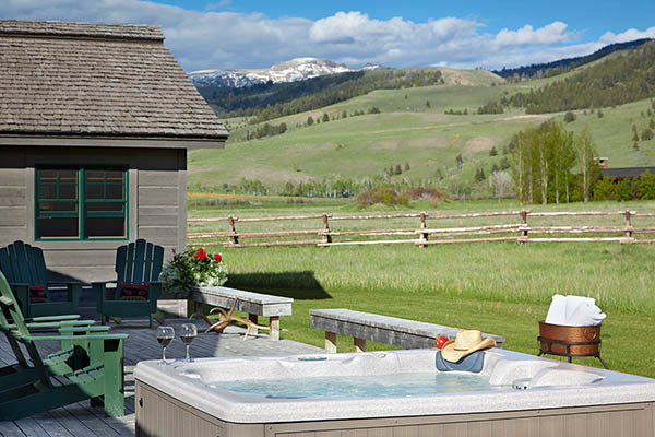 Hot Tub - Elk Refuge - Jackson Hole Luxury Vacation Cabin