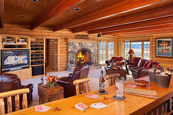 Media Room - Elk Refuge - Jackson Hole Luxury Vacation Cabin