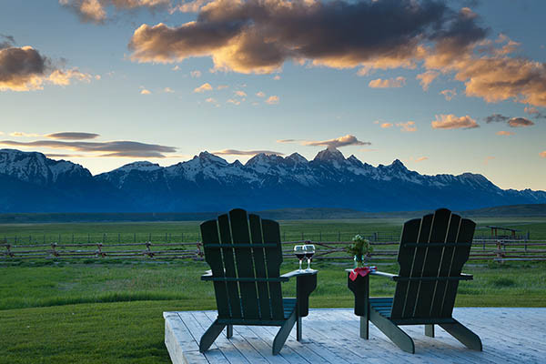 Teton Views - Elk Refuge - Jackson Hole Luxury Vacation Cabin