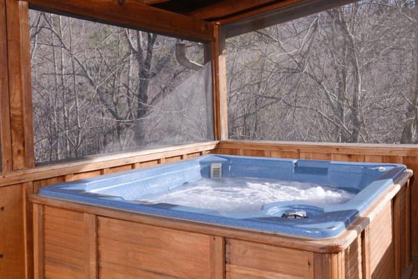 Porch & Hot Tub