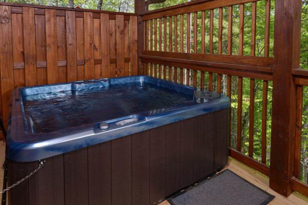 Outdoor Deck Hot Tub