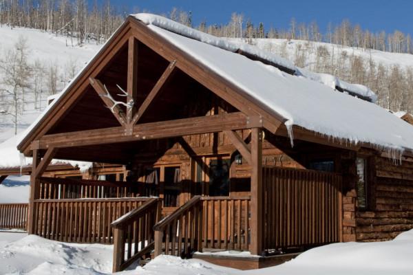 Winter Cabin Exterior