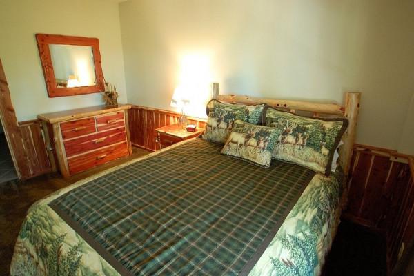 Pinecone Cabin Bedroom