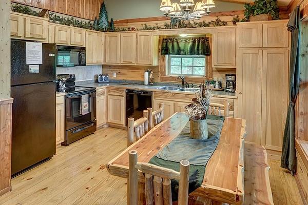 Pinecone Cabin Kitchen