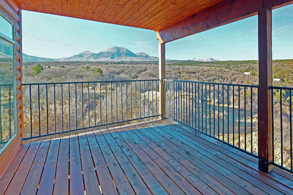 Deck Overlooking Mountains