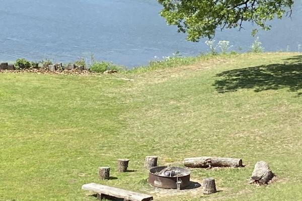Firepit by Lake