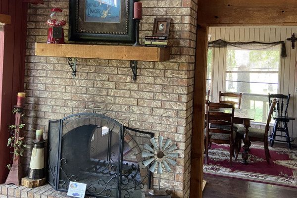 Fireplace to Dining Area
