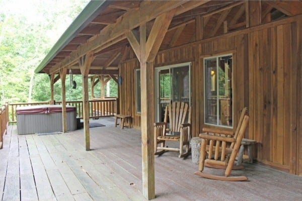 Porch with Hot Tub