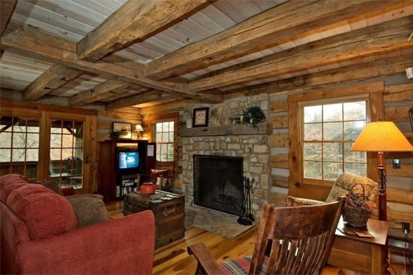 log cabin living room. Cabin  Entrance Living Room Book Wildflower Ridge Log Nashville Indiana All Cabins