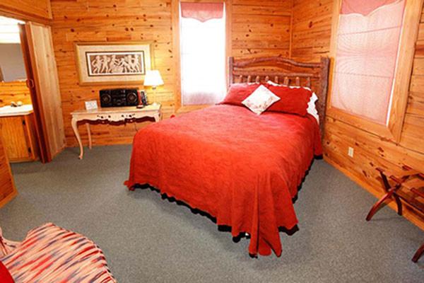 Log Cabin Bedroom - Eureka Springs