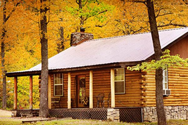 Log Cabin Front Porch - Eureka Springs