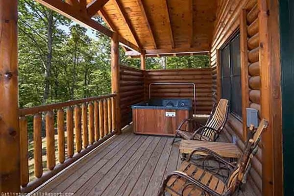 Porch and Hot Tub