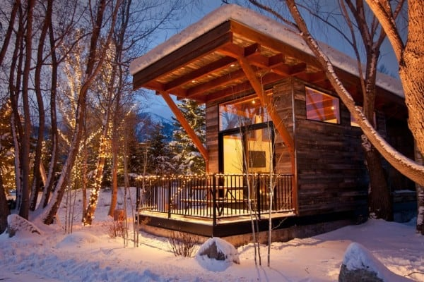 Wedge Cabin in Winter