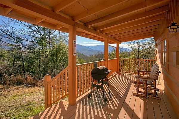 Porch, Rocking Chairs and Grill